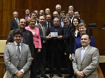Piá recebe homenagem na Assembleia Legislativa do RS