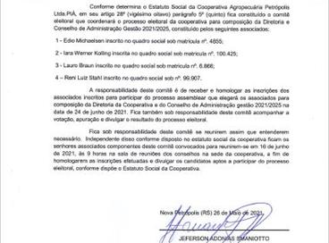 COMISSÃO ELEITORAL 2021