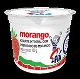 Iogurte Integral com Preparado de Morango - 150g